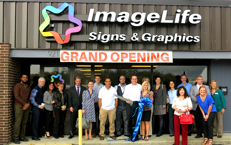 Representatives from the  Nashville Chamber, Small Business Development Center, friends, family and current customers joined in the Grand Opening celebration on April 1, 2015.