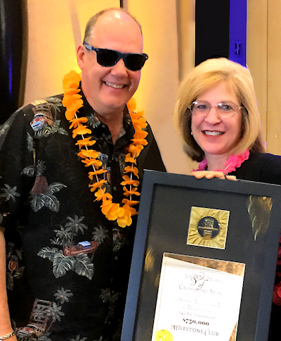 Jeff & Kim Thomas in 2015, awarded Milestone at a Sign Biz Convention in Las Vegas